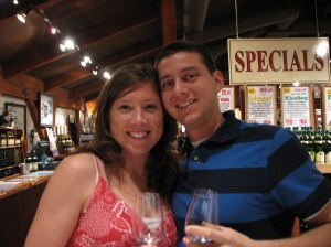Erica and Nick in Napa